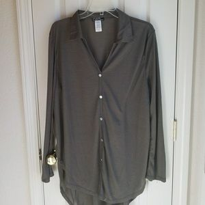NWOT CLIO APPAREL OLIVE GREEN BLOUSE